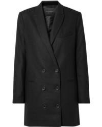Vestido de esmoquin negro de Equipment