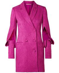 Vestido de esmoquin rosa