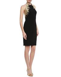 Vestido de fiesta bordado negro