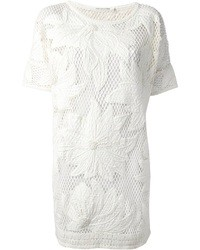 Vestido de fiesta de crochet blanco de Etoile Isabel Marant