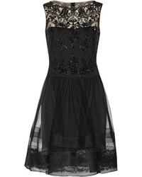 Vestido de Fiesta de Encaje Negro de Notte by Marchesa