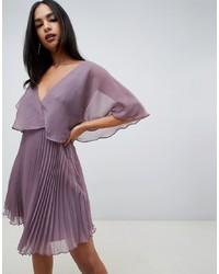 Vestido de fiesta de gasa rosado de ASOS DESIGN