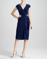 Vestido de Fiesta de Terciopelo Azul Marino