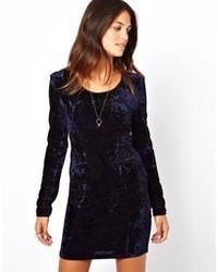 Vestido de Fiesta de Terciopelo Azul Marino de Lucca Couture