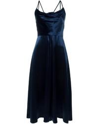 Vestido de Fiesta de Terciopelo Azul Marino de Valentino