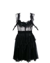 Vestido de fiesta de tul negro de Dsquared2