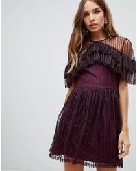 Vestido de fiesta morado oscuro de Dolly & Delicious