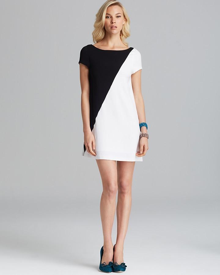 Vestido fiesta negro y blanco