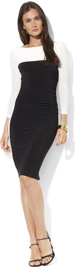 Vestido de fiesta en negro y blanco