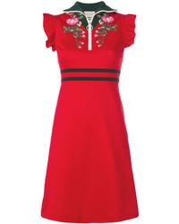 Vestido de Flores Rojo de Gucci