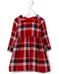 Vestido de lana de tartán rojo de Il Gufo
