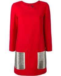 Vestido de lana rojo de Salvatore Ferragamo