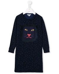 Vestido de Leopardo Azul Marino de Little Marc Jacobs