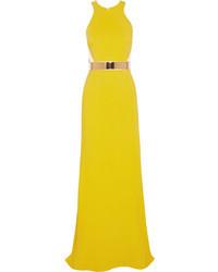 Vestido de noche amarillo