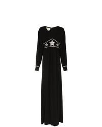 Vestido de noche con adornos negro de Gucci