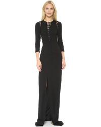 Vestido de Noche con Recorte Negro de Antonio Berardi