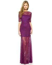 40ace7c0c2 Comprar un vestido de noche de encaje morado  elegir vestidos de ...