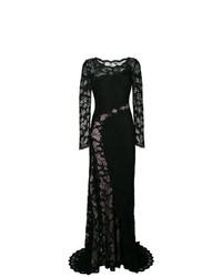 Vestido de Noche de Encaje Negro de Olvi´S