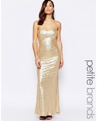 Vestido de Noche de Lentejuelas Dorado