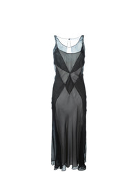 Vestido de noche de malla negro de Maison Margiela