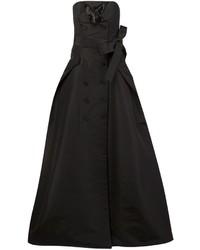 Vestido de noche de seda negro de Carolina Herrera