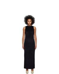 Vestido de noche de terciopelo negro de John Elliott