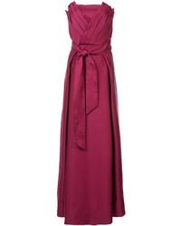 Vestido de noche de terciopelo rojo