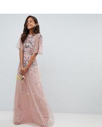 Vestido de noche de tul rosado de Asos Tall