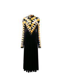 Vestido de noche efecto teñido anudado negro de Proenza Schouler