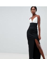 Vestido de noche en blanco y negro de Asos Tall