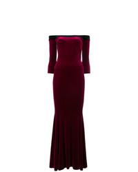 Vestido de Noche Morado Oscuro de Norma Kamali
