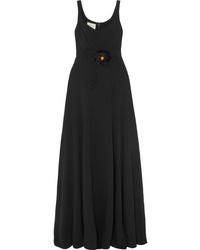 Vestido de noche negro de Gucci