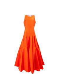 Vestido de Noche Plisado Naranja de Maison Rabih Kayrouz