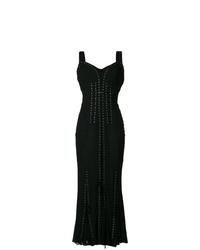 Vestido de noche plisado negro de Dolce & Gabbana