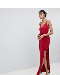 Vestido de noche rojo de Asos Tall