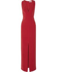 Vestido de noche rojo de Balenciaga