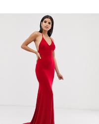 Vestido de noche rojo de Club L London Tall