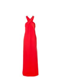 Vestido de noche rojo de Lanvin
