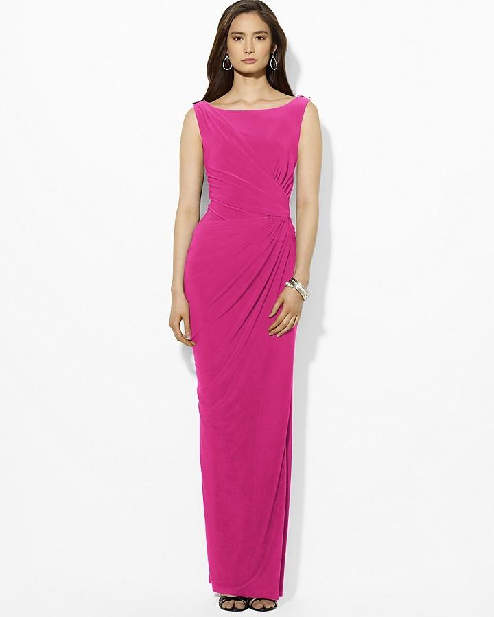 Vestido de Noche Rosa de Lauren Ralph Lauren: dónde comprar y cómo ...