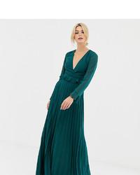 Vestido de noche verde oscuro de Asos Tall
