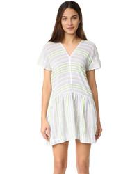 Vestido de rayas horizontales gris de Lemlem