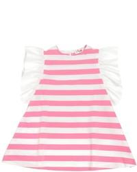 Vestido de rayas horizontales rosa