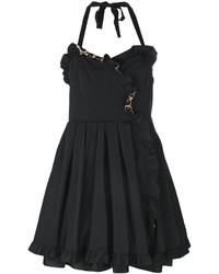 Vestido de seda con volante negro de Marc Jacobs