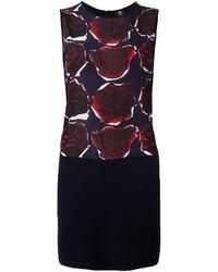 Vestido de seda estampado azul marino de Paul Smith