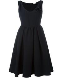 Vestido de Seda Negro de Fendi
