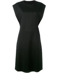 Vestido de seda negro de Jil Sander