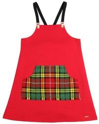 Vestido de tartán rojo