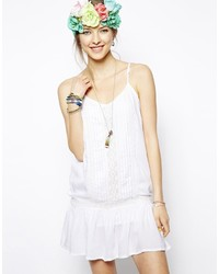 Vestido de tirantes blanco de MinkPink