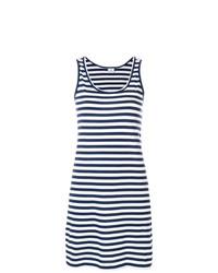 Vestido de tirantes de rayas horizontales en azul marino y blanco de Ps By Paul Smith