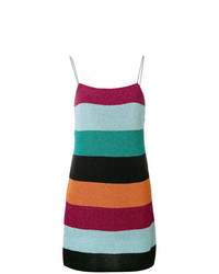 Vestido de tirantes de rayas horizontales en multicolor de Laneus